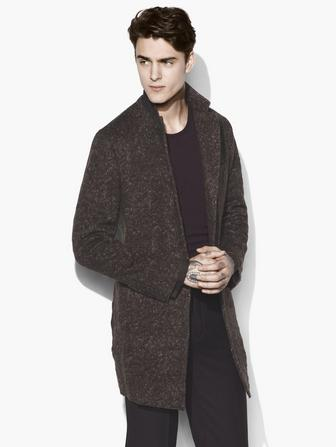 NOTCH LAPEL WOOL COAT