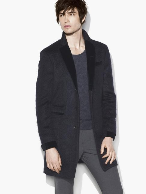 NOTCH LAPEL LONG COAT