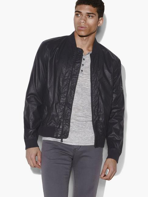 John Varvatos COATED TWILL BOMBER JACKET