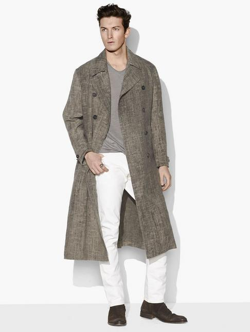 LINEN MILITARY TRENCH COAT
