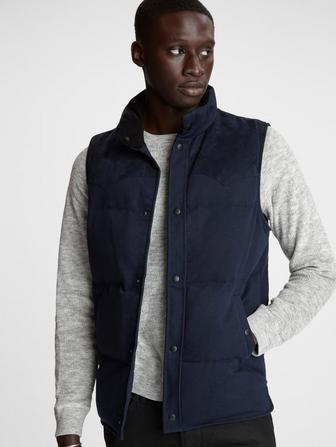DECKER DENIM PUFFER VEST