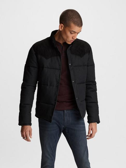 PACEY DENIM PUFFER JACKET