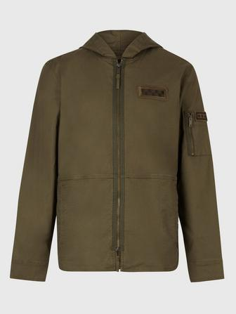 SKYLER RIP-STOP COTTON HOODED SHIRT JACKET