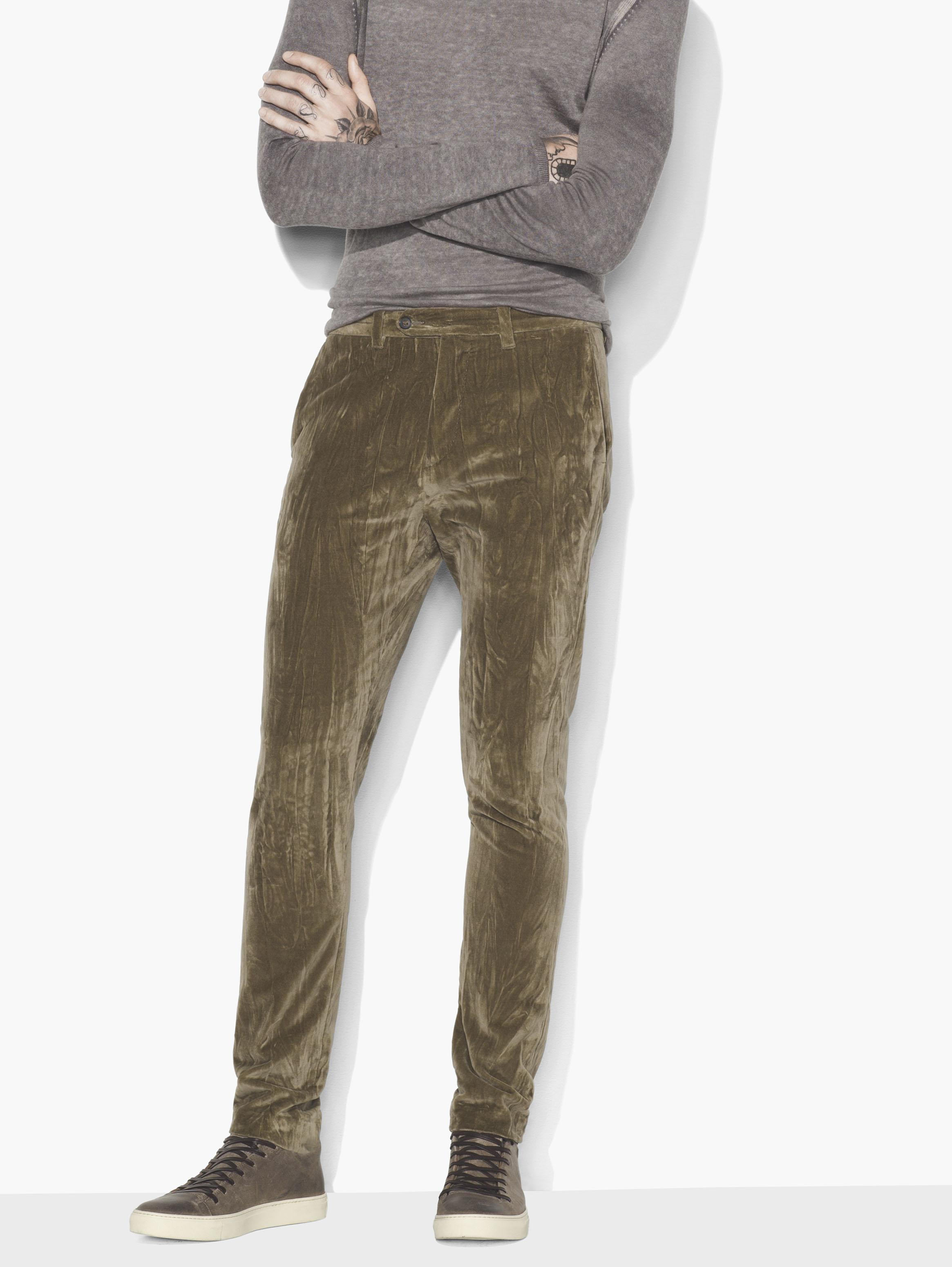 John Varvatos Men's VELVET PANTS