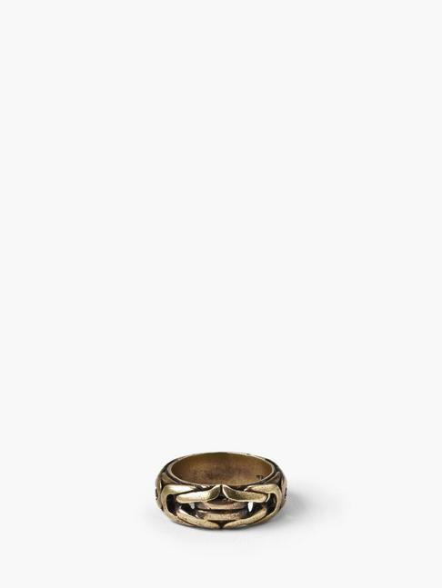 BRASS BRAIDED RING
