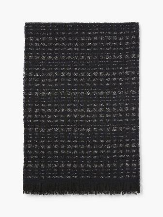 ALLOVER ABSTRACT WOOL SCARF
