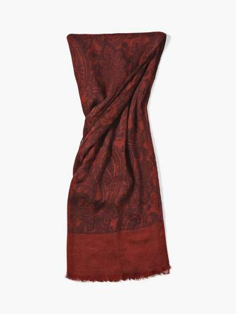 WOVEN CRINKLED PAISLEY SCARF