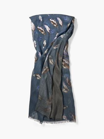 Modal Feather Print Scarf