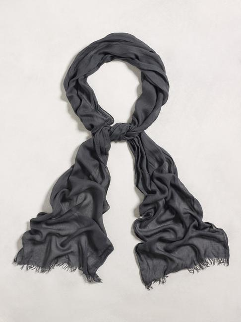 Solid Crinkle Guaze Scarf