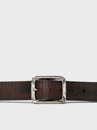 40mm Crackled Leather Bridle Strap