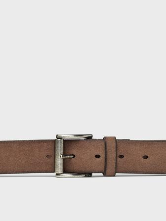 Roller Buckle Suede Belt