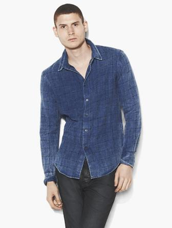Denim Window Pane Shirt