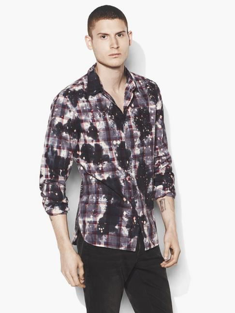 Bleached Grid Plaid Shirt