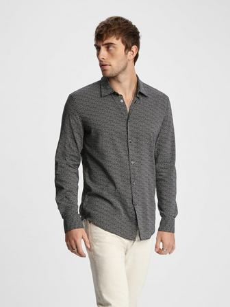 SLIM FIT MICRO-DOT SHIRT