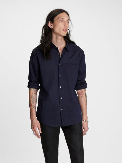 Slim Fit Rolled Sleeve Shirt