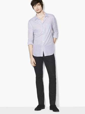 CHECKED ROLL-SLEEVE SHIRT