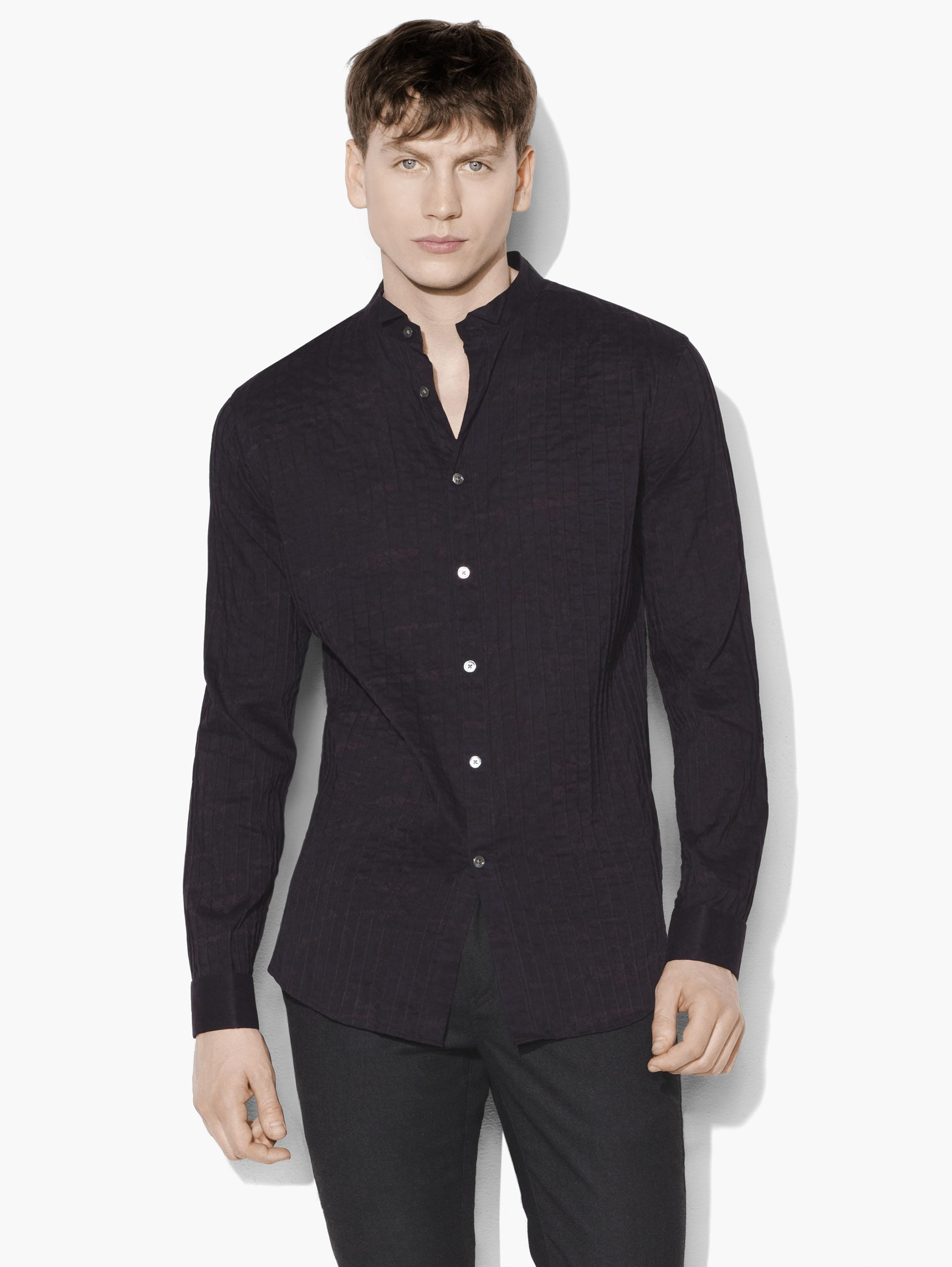 Elongated Pintuck Shirt
