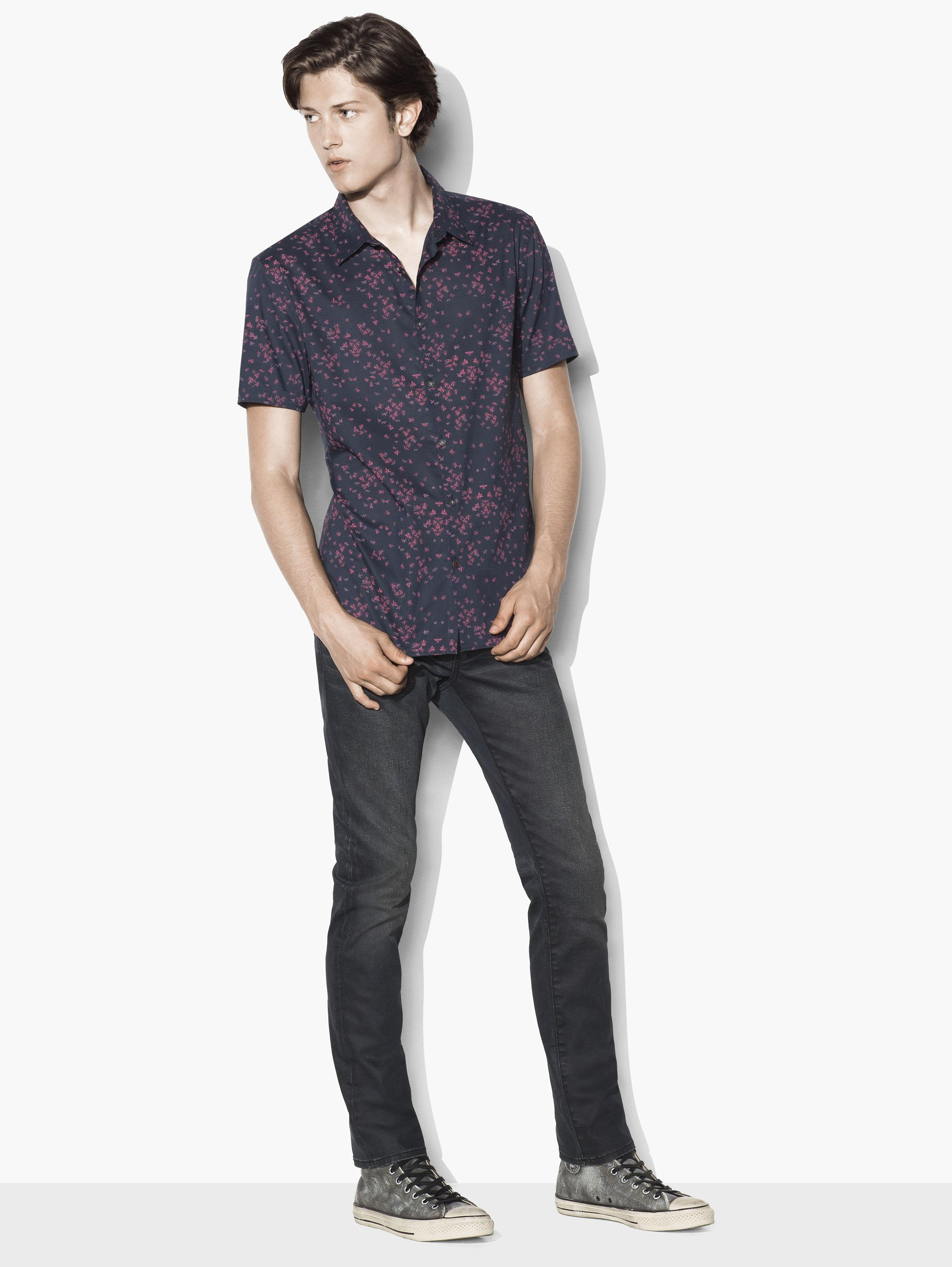Short Sleeve Patterned Shirt