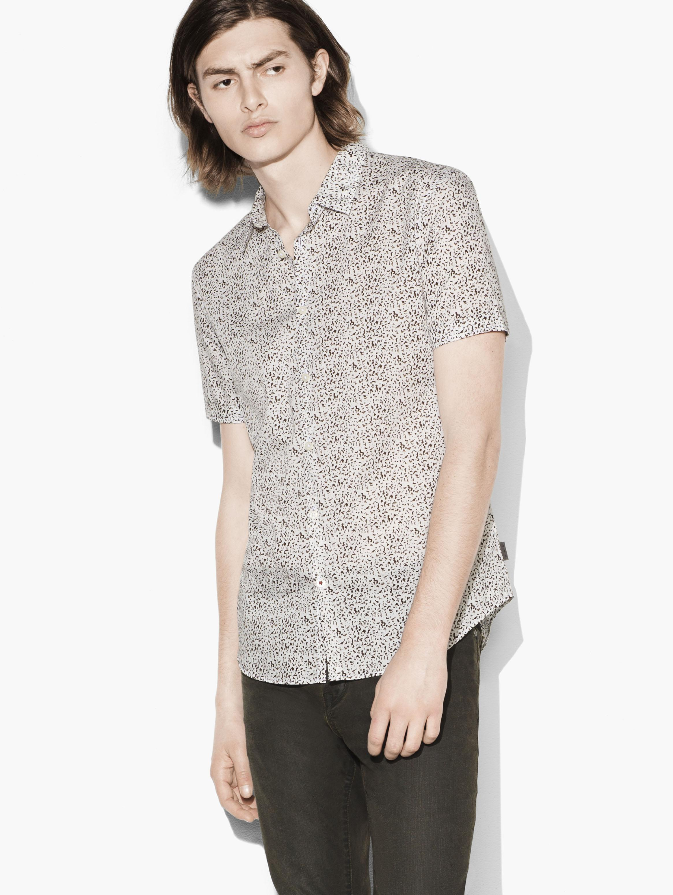 Short Sleeve Abstract Print Shirt