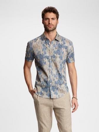 PATINA PRINT SHORT SLEEVE SHIRT