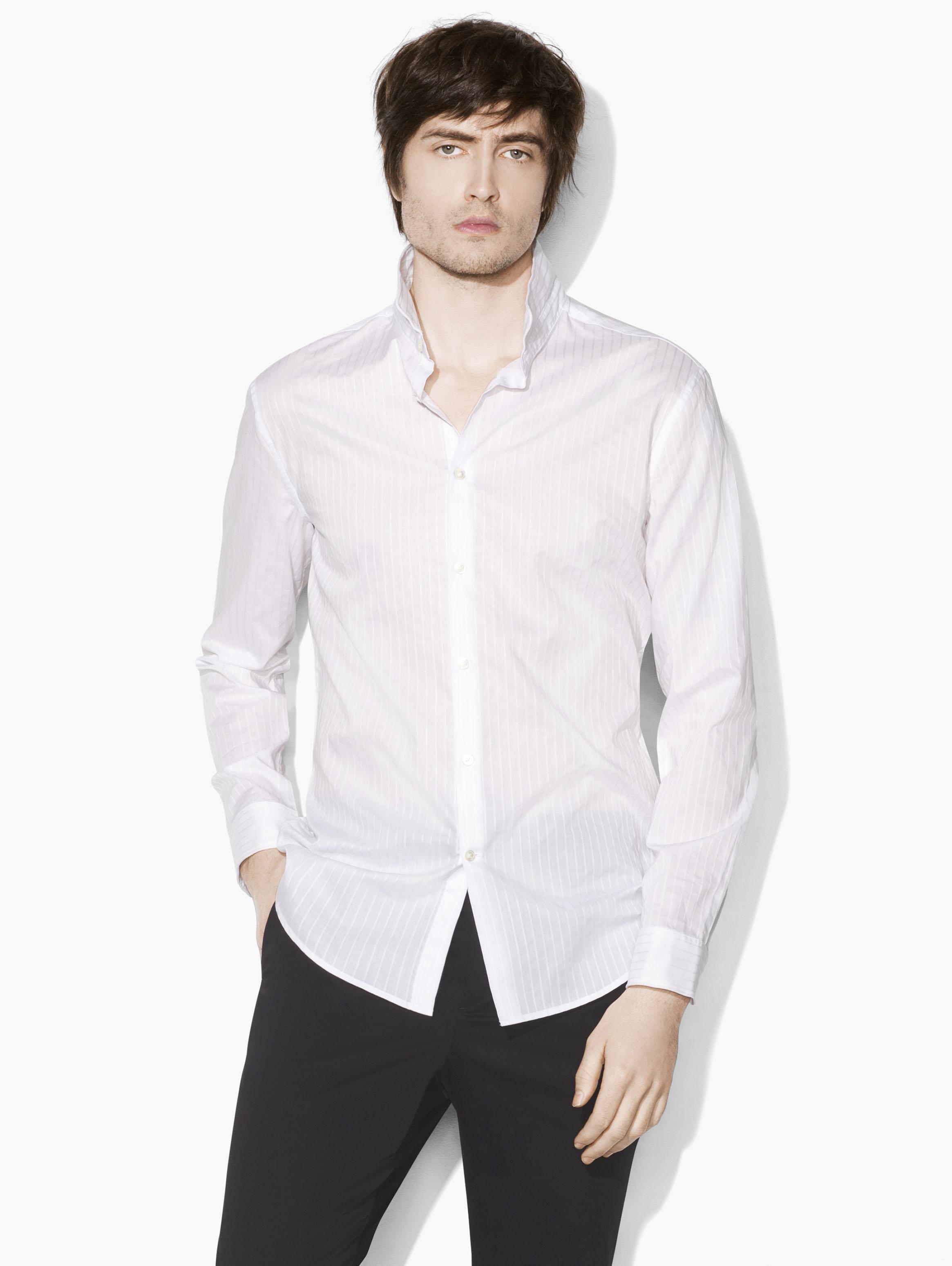 Wire Collar Shirt John Varvatos