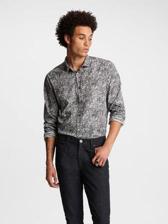 Wire Collar Floral Shirt