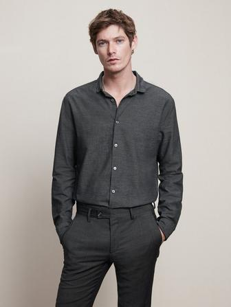 SLIM FIT SHIRT WITH WIRE INSERT