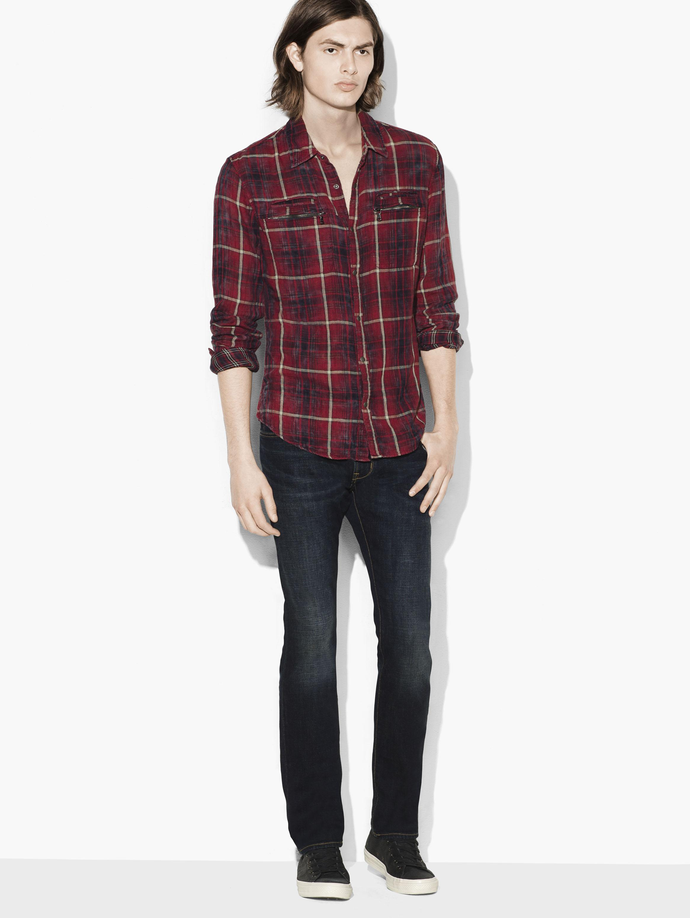 Plaid Snap Front Workwear Shirt