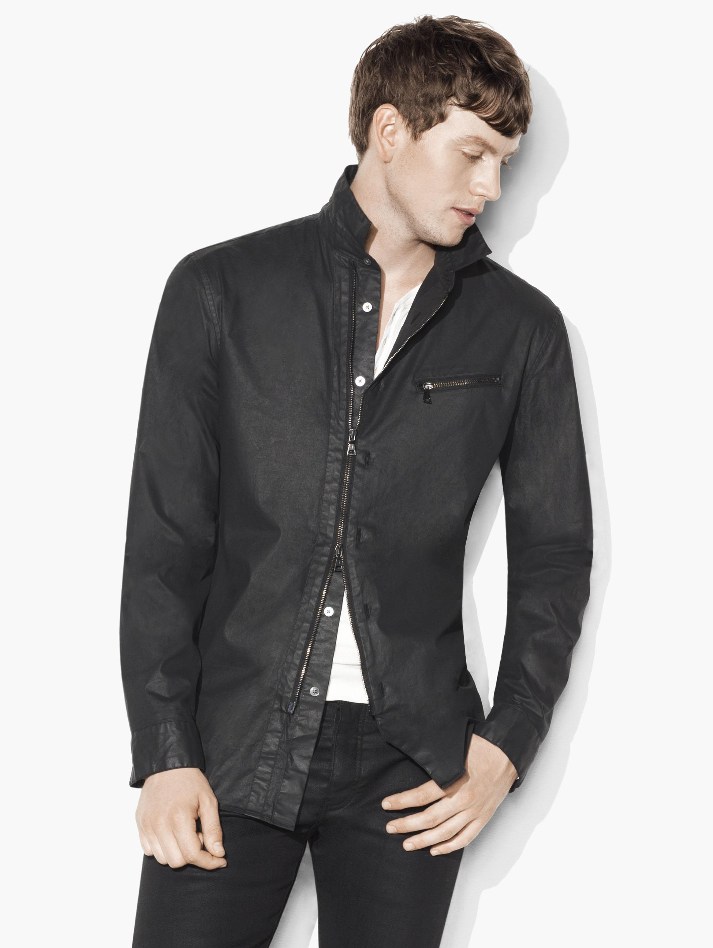Resin Coated Shirt Jacket
