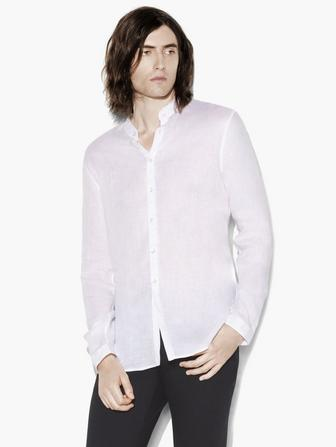 BAND COLLAR LONG SHIRT