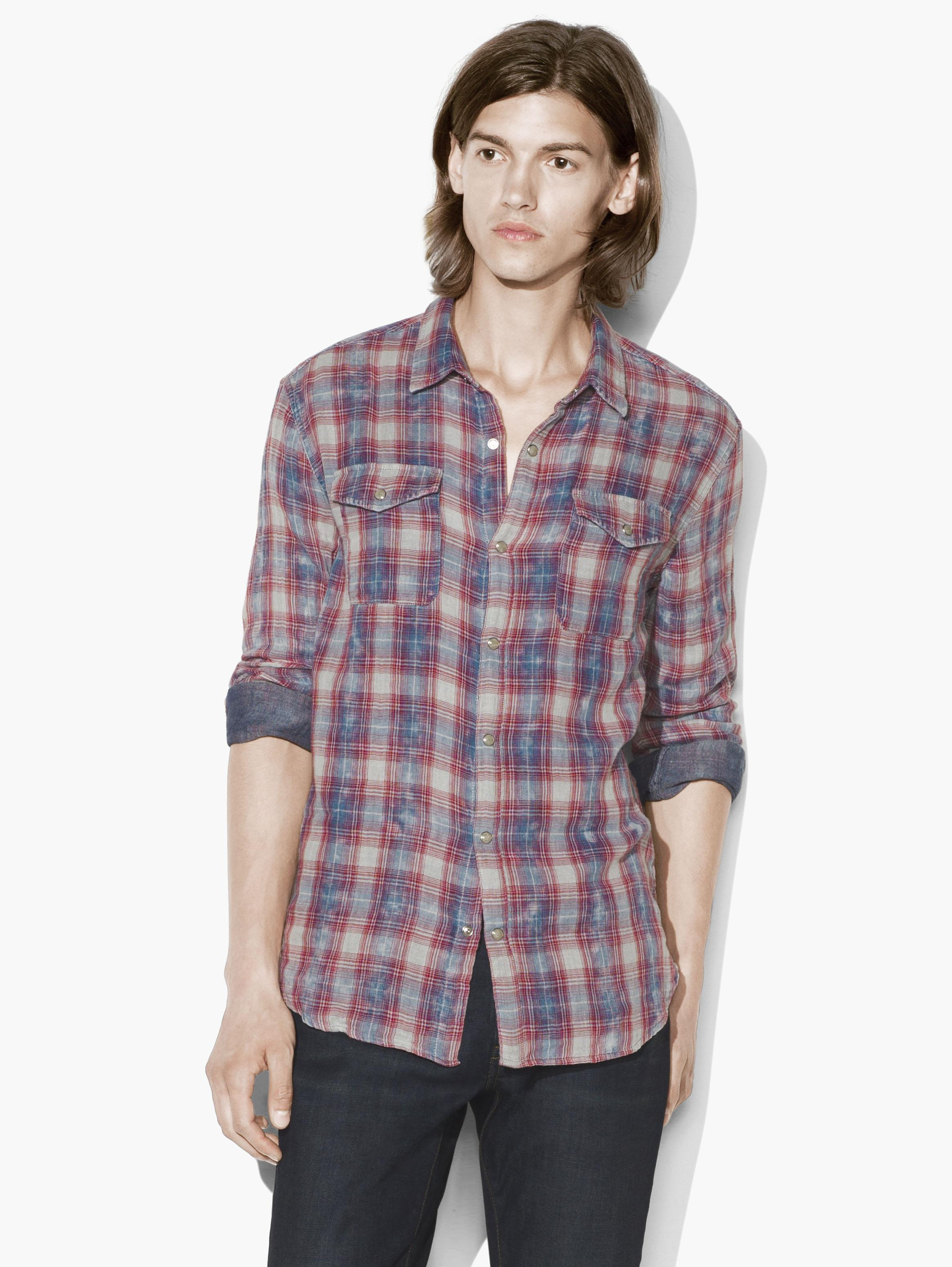 Snap Front Plaid Shirt