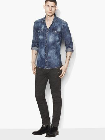 CLOUD-WASH DENIM SHIRT