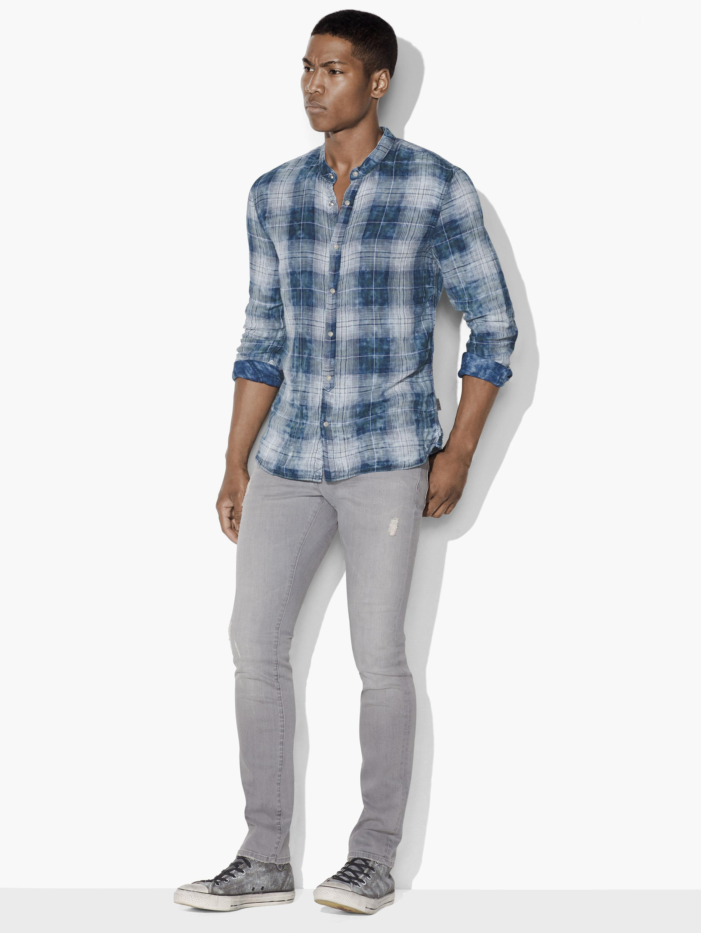 Plaid Snap-Front Shirt