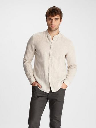 CLASSIC FIT BAND COLLAR SHIRT