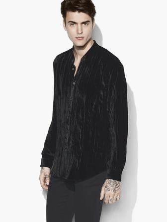 CRUSHED VELVET SHIRT
