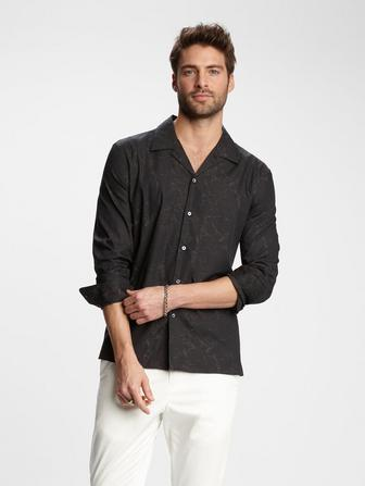MARBLED JACQUARD SHIRT