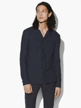SLIM FIT CAMP COLLAR SHIRT