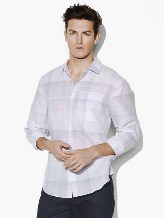 ROLL SLEEVE PLAID SHIRT