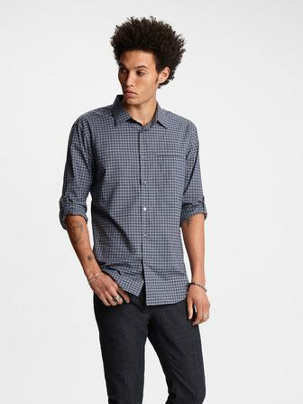 Adjustable Sleeve Plaid Shirt