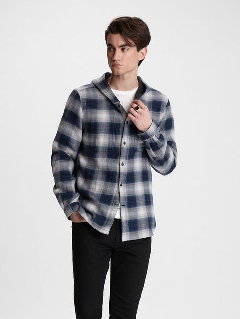 GRAYSON HOODED REVERSIBLE SHIRT