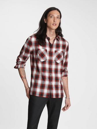 SLIM FIT PLAID SHIRT