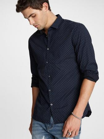 FULTON LS SPORT SHIRT CLEAN FRONT BUTTON