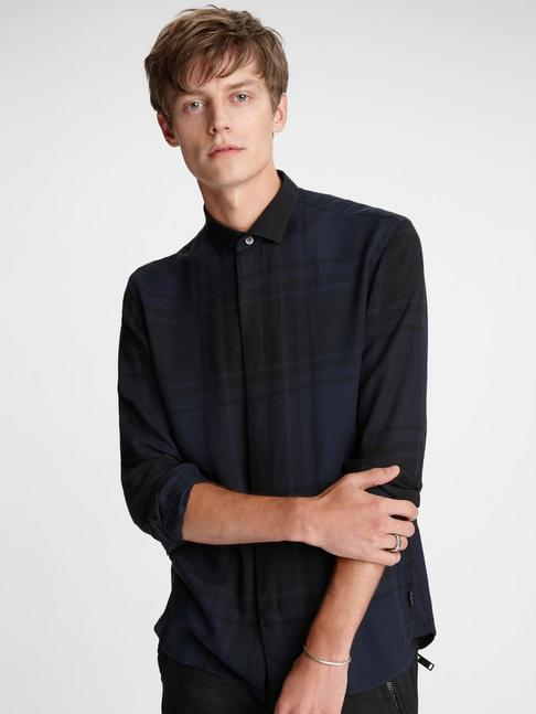 Rodney Tonal Plaid Shirt