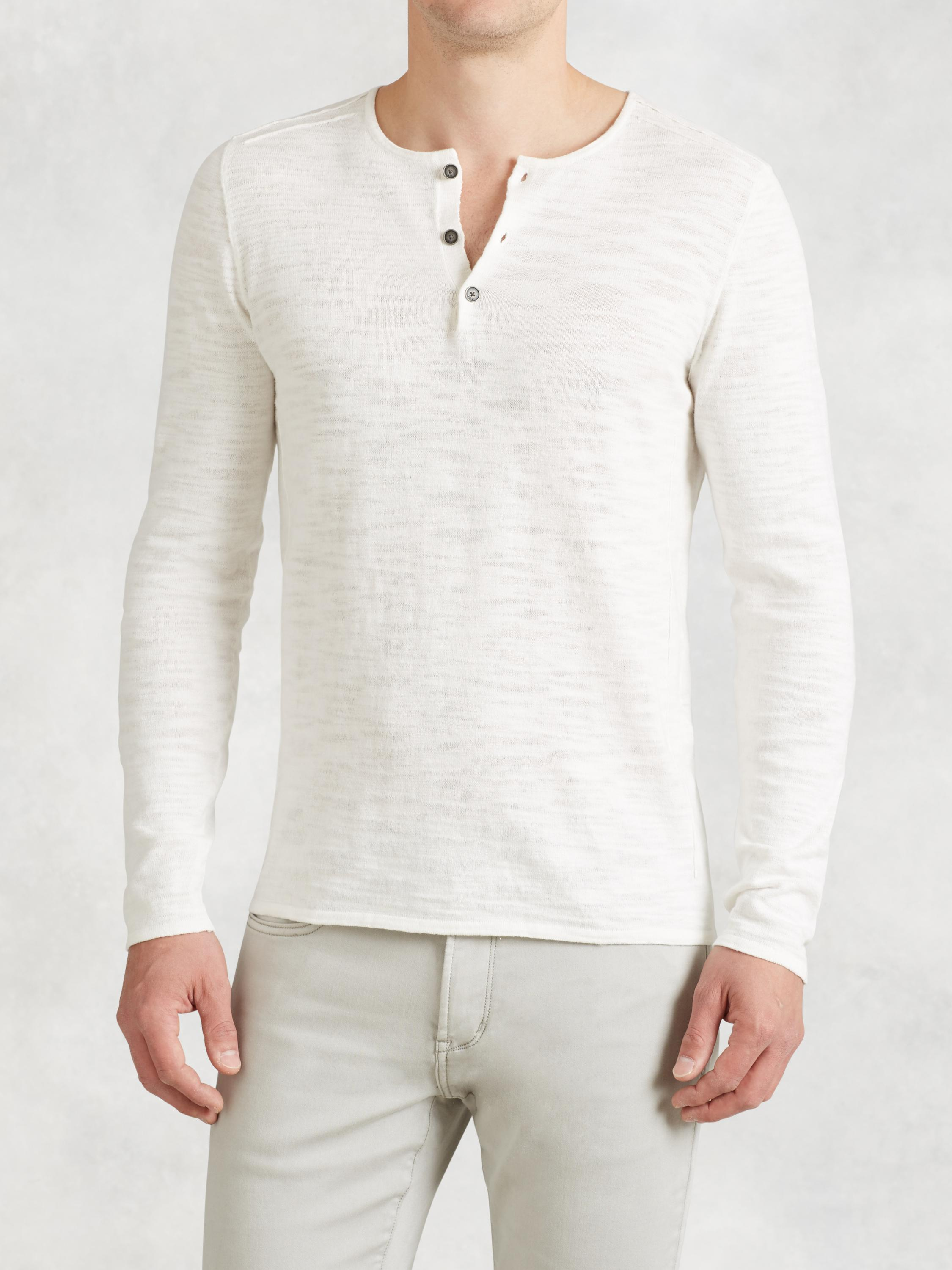 Long Sleeve Pintuck Henley