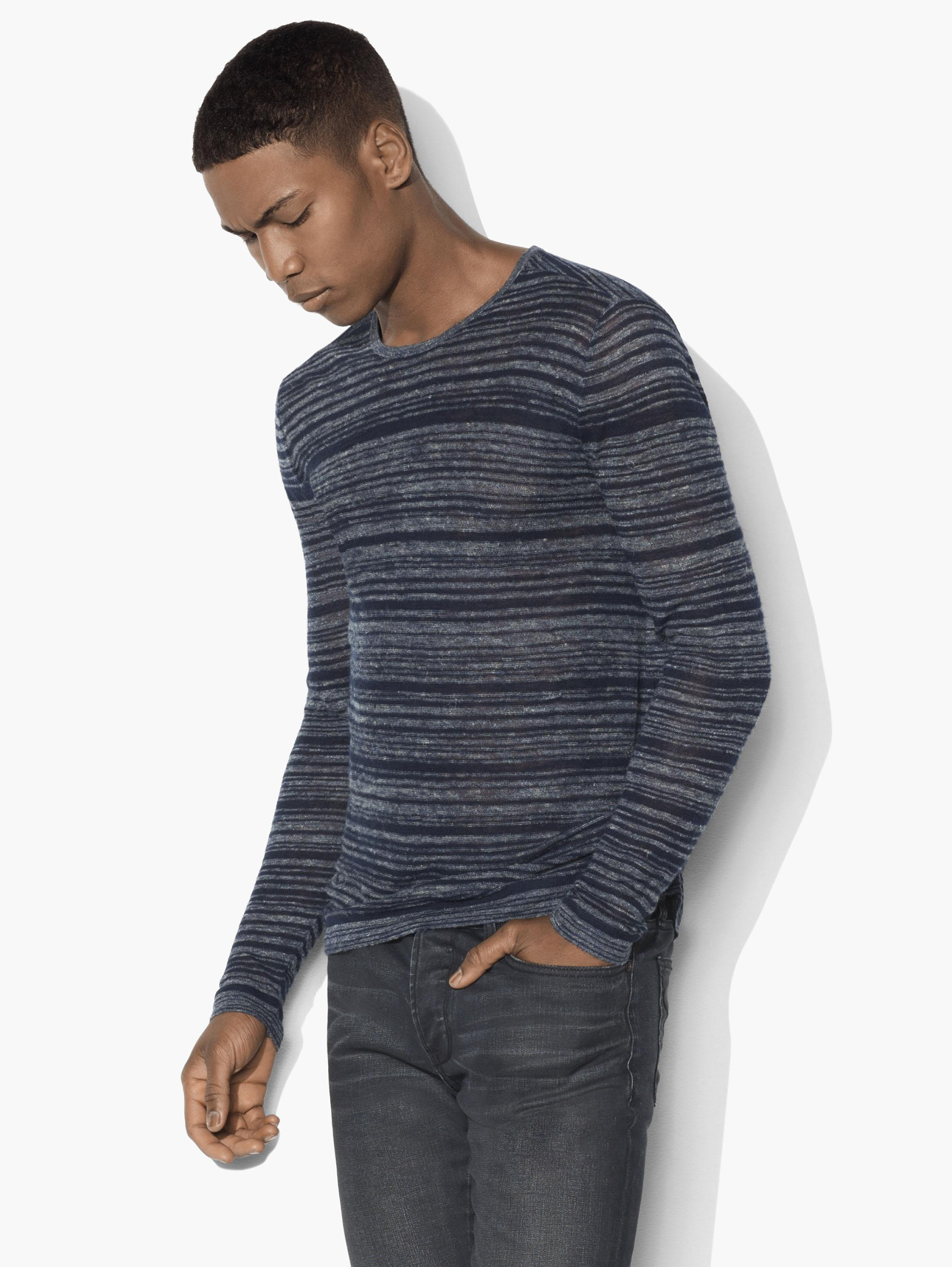 Varied Striped Crewneck