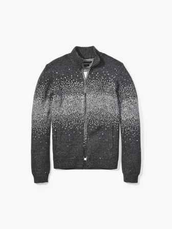 JACQUARD FUNNEL NECK SWEATER
