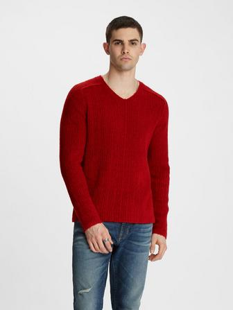 OMAHA V-NECK BOUCLE SWEATER