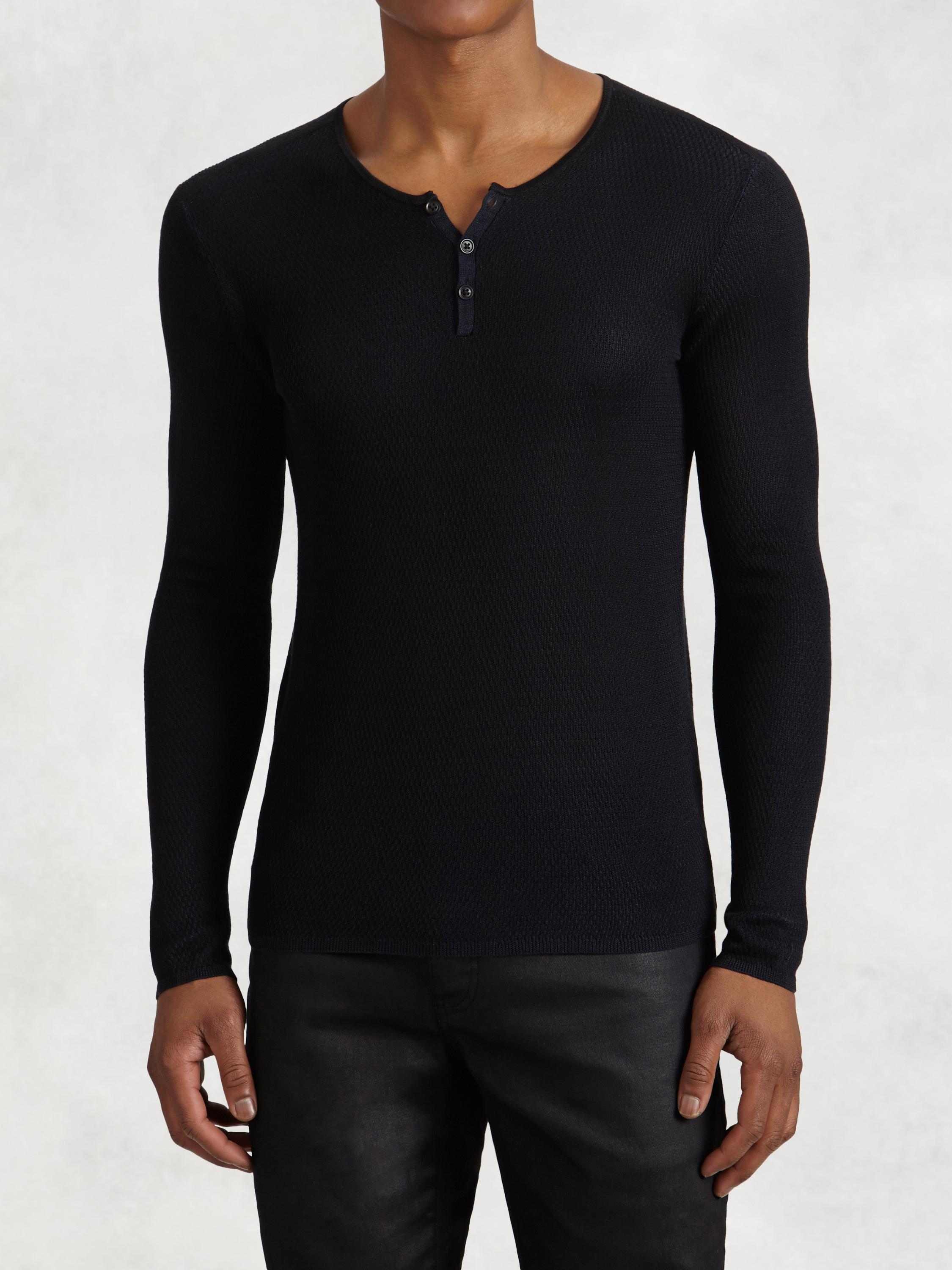 Silk Henely Sweater