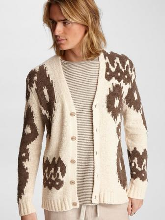 Bannister Abstract Cardigan