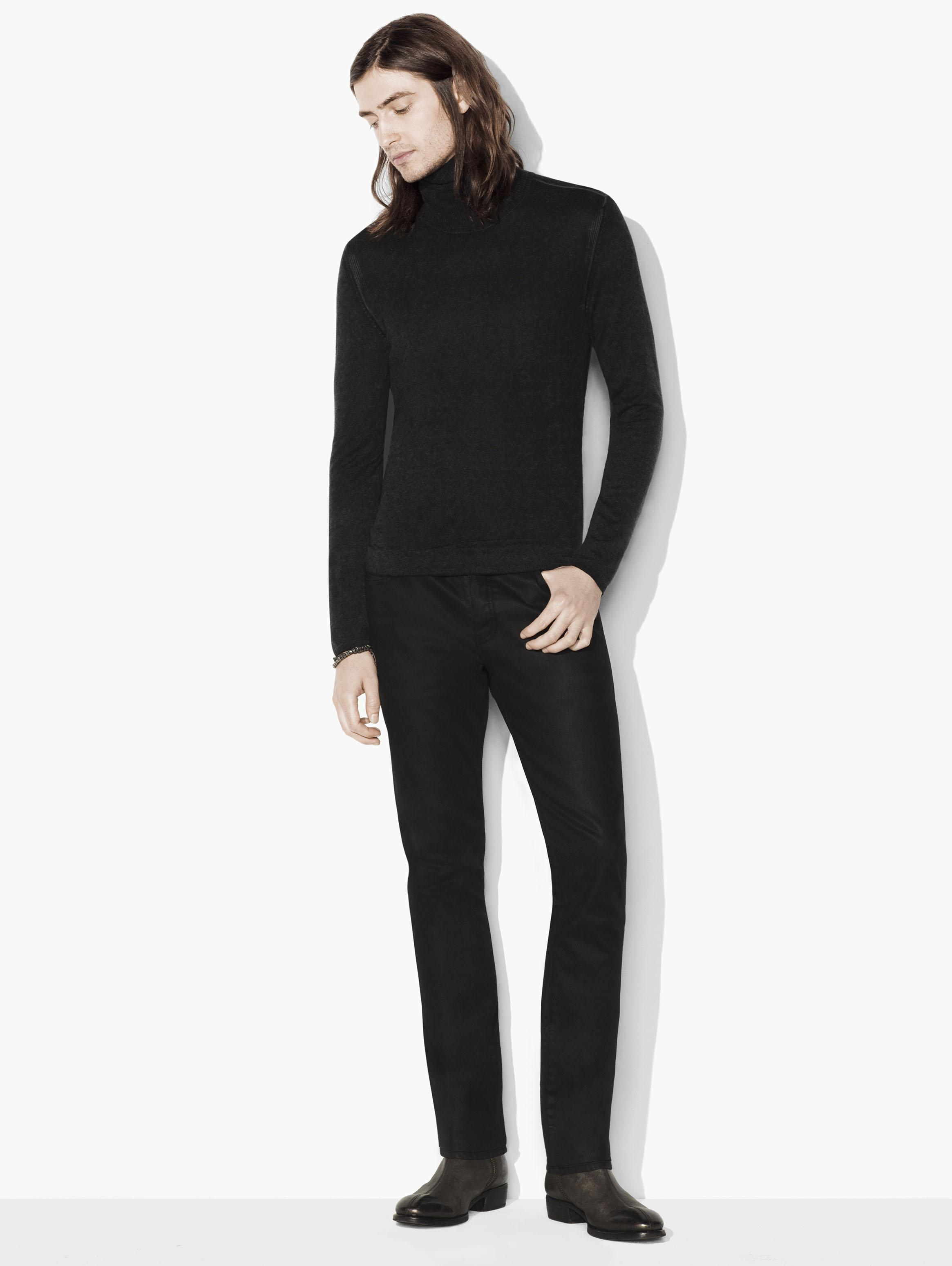 Artisan Silk and Cashmere Turtleneck